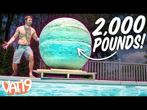 We Made the World's Largest Bath Bomb!