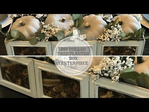 DIY DOLLAR TREE FALL PLANTER BOX CENTERPIECE