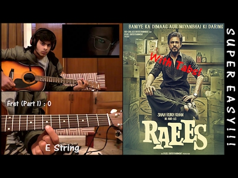 Raees Theme (Instrumental) - Guitar TUTORIAL [with Tabs] - (Super Easy!)
