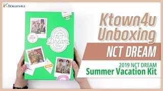 "🎁Unboxing & Giveaway NCT DREAM ""Summer Vacation Kit"" 엔시티드림 여름방학킷 언박싱 Kpop Ktown4u"
