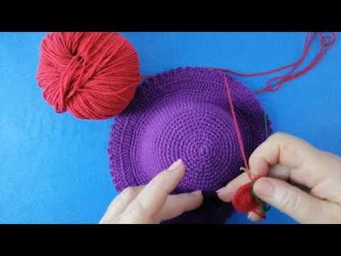 Связать шляпку для куклы крючком