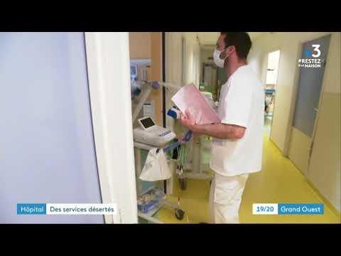 Pont L'Abbé: l'hôpital déserté, avec le coronavirus les patients renoncent ou retardent leurs soins