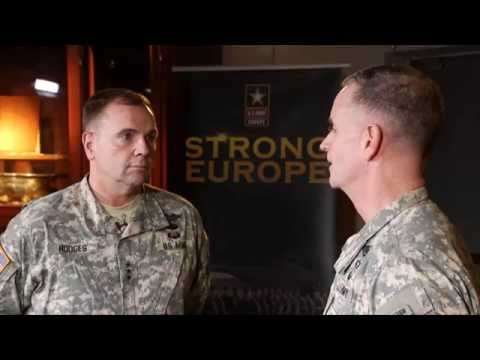 U.S. Army Europe Commanding General and Deputy Commanding General discussion