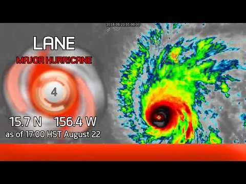 Hurricane Lane warnings extended to Oahu - 5pm HST Aug 22, 2018