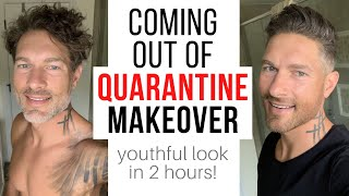 Coming Out Of Quarantine Makeover – Before & After : Haircut Details, Hairstyling, Beard Trim & Dye