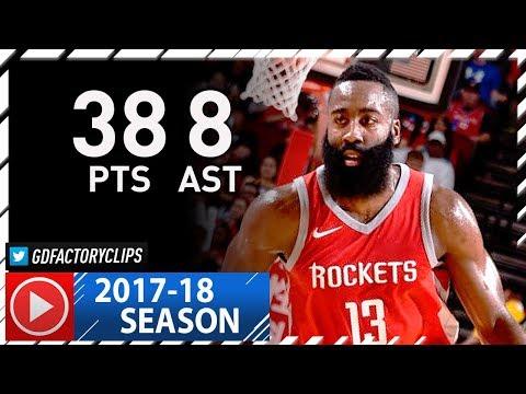 James Harden Full Highlights vs Grizzlies (2017.11.11) - 38 Pts, 8 Ast, MVP!