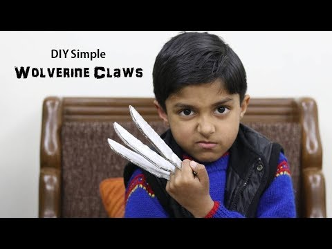 How to make really simple X-MEN WOLVERINE CLAWS from Cardboard (In Hindi)   Art Attack Hindi