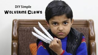 How to make really simple X-MEN WOLVERINE CLAWS from Cardboard (In Hindi) | Art Attack Hindi