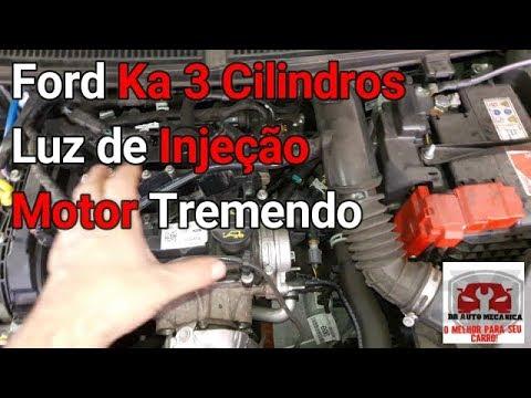 Ford Ka 3 Cilindros Motor Vibrando Luz De Injecao Acesa Video N
