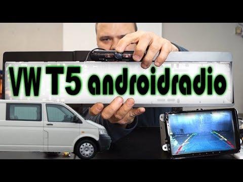 9 Zoll Androidradio einbauen im VW T5 Transporter inkl. Rückfahrkamera