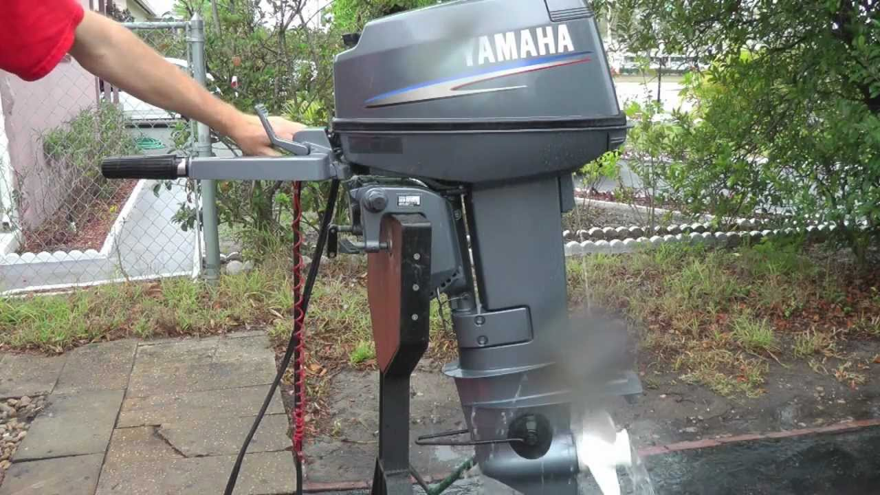 2006 yamaha 25hp 2 stroke short shaft outboard motor youtube for 30 hp yamaha outboard
