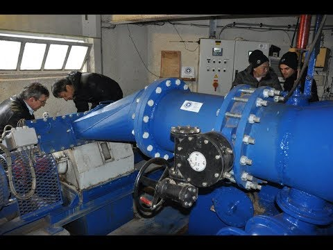 New Crossflow Hydro Turbine 100 kW started with testing