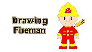 Drawing Fireman @ Citi Heroes Cartoon