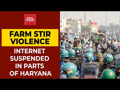 Internet Services Suspended In Parts Of Haryana | Farmers' Rally Live Updates | Breaking News thumbnail