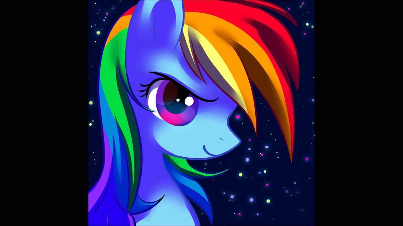 Equestria Girls Wallpaper Pink Fluffy Unicorns Dancing On Rainbows Dubstep Remix