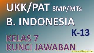 Soal Pat B Indonesia Kelas 7 Dan Jawaban