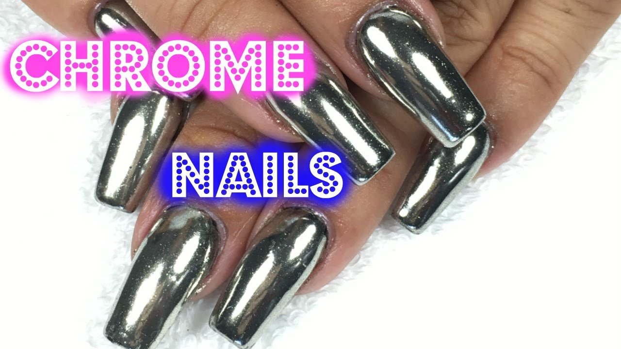 DAILY CHARME CHROME NAILS/ UÑAS CROMADAS/EFECTO ESPEJO - YouTube