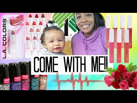 Come with Me to Dollar Tree! $1 makeup brushes, new beauty products and Vday items!
