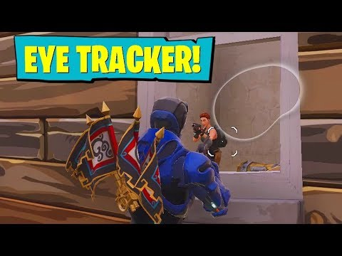 USING EYE TRACKER IN FORTNITE!