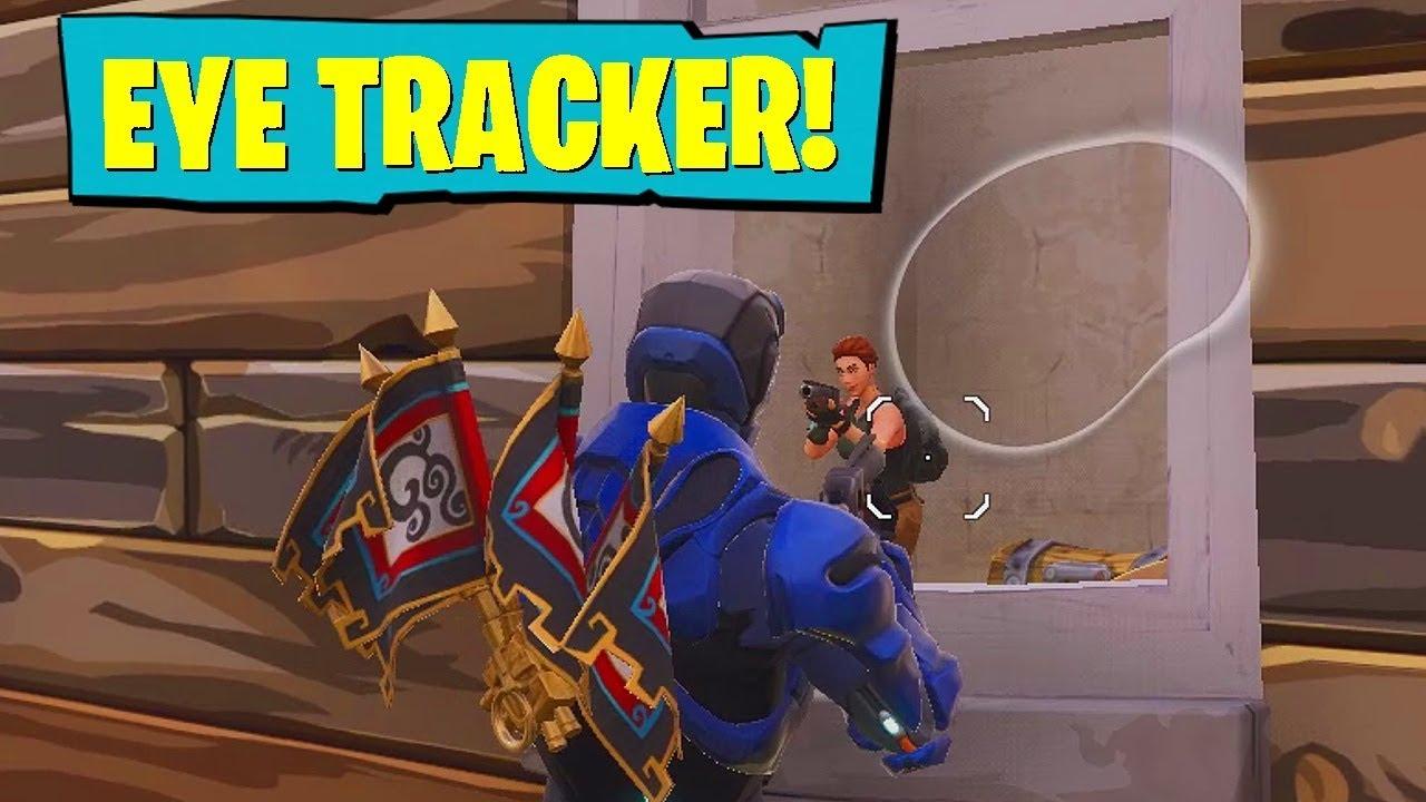 USING EYE TRACKER IN FORTNITE!