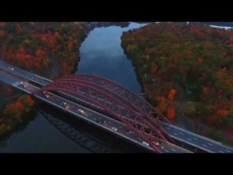 Flying around Mohawk River in Half Moon NY with a Phantom 4