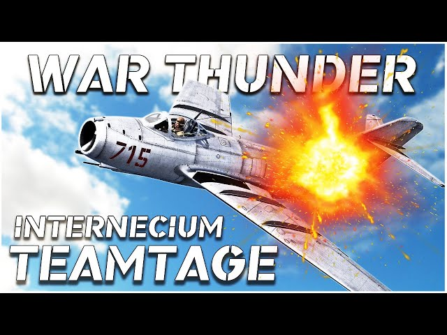 War Thunder | PC Pilots Crew Teamtage | Internecium | Amazing RB Combat!