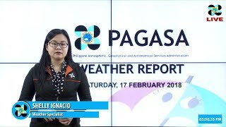 Public Weather Forecast Issued at 4:00 PM February 17, 2018