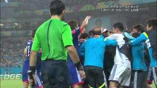 2014 FIFAワールドカップ グループC 日本×コートジボワール戦 本田ゴール!シーン