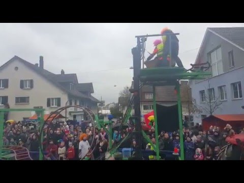 Rollercoaster on Swiss Carnival Float