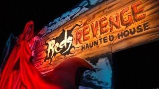 Red's Revenge Haunted House Maze Walkthrough Fright Fest Six Flags Magic Mountain Halloween Event