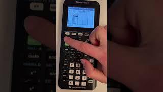 Eine Wertetabelle und dęn dazugehörigen Graph erstellen (TI-84 PLUS CE-T)