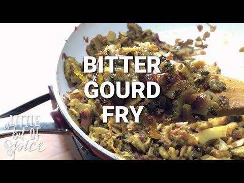 Bitter Gourd Fry (Paavakka / Kakarakaya / Karela Fry)