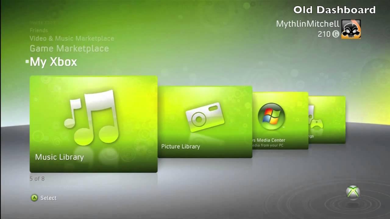 NEW Xbox 360 Dashboard - YouTube