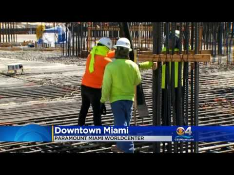 Foundation Pour on CBS 4 News | PARAMOUNT Miami Worldcenter