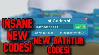 *NEW WORKING* BATHTUB CODES Roblox Unboxing simulator
