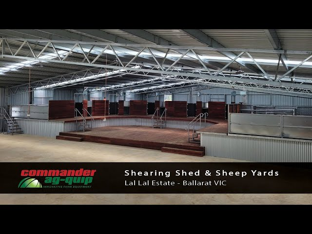 Commander Ag-Quip Shearing Shed and Sheepyards- Ballarat, VIC