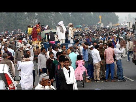 Jat quota protest: Roads blocked, thousands gather at Delhi's Jantar Mantar