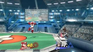 Smash 4: Casual Link Vs. Mega Man