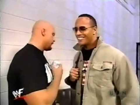 The Rock vs Stone Cold - RAW WWF segment