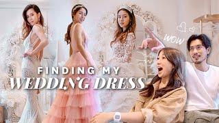 TRYING ON WEDDING DRESSES!! ❤ | nicolechangmin