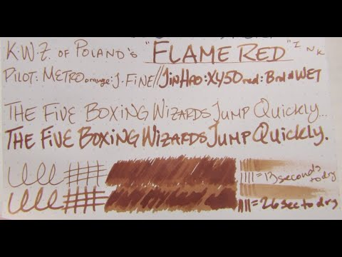 "Ink Review: K.W.Z.'s ""Flame Red"" Ink"