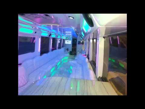 All White Limo Bus Youtube