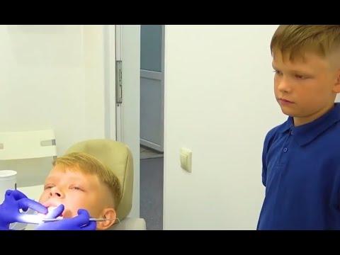 Саша Первый раз у СТОМАТОЛОГА ЛЕЧИТ зубы. Брос Шоу.