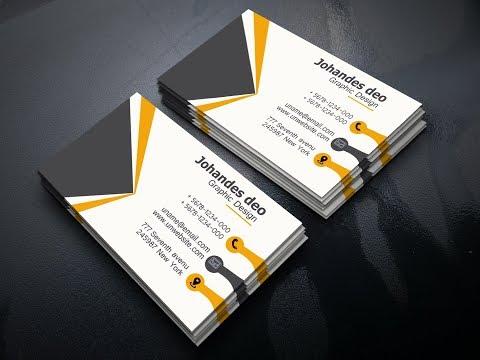How to Make Creative Business Card - Photoshop CC Tutorial كارت شحصي جديد thumbnail