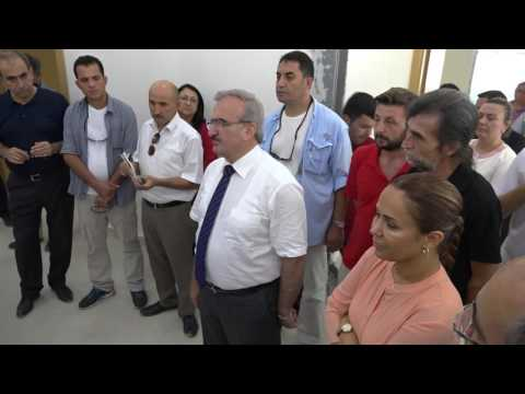 Antalya Valisi Münir Karaloğlu, Kepez'de yapımı devam eden AMATEM'de incelemelerde bulundu.