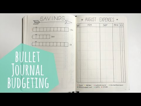 How to budget in a Bullet Journal | Hello Deborah
