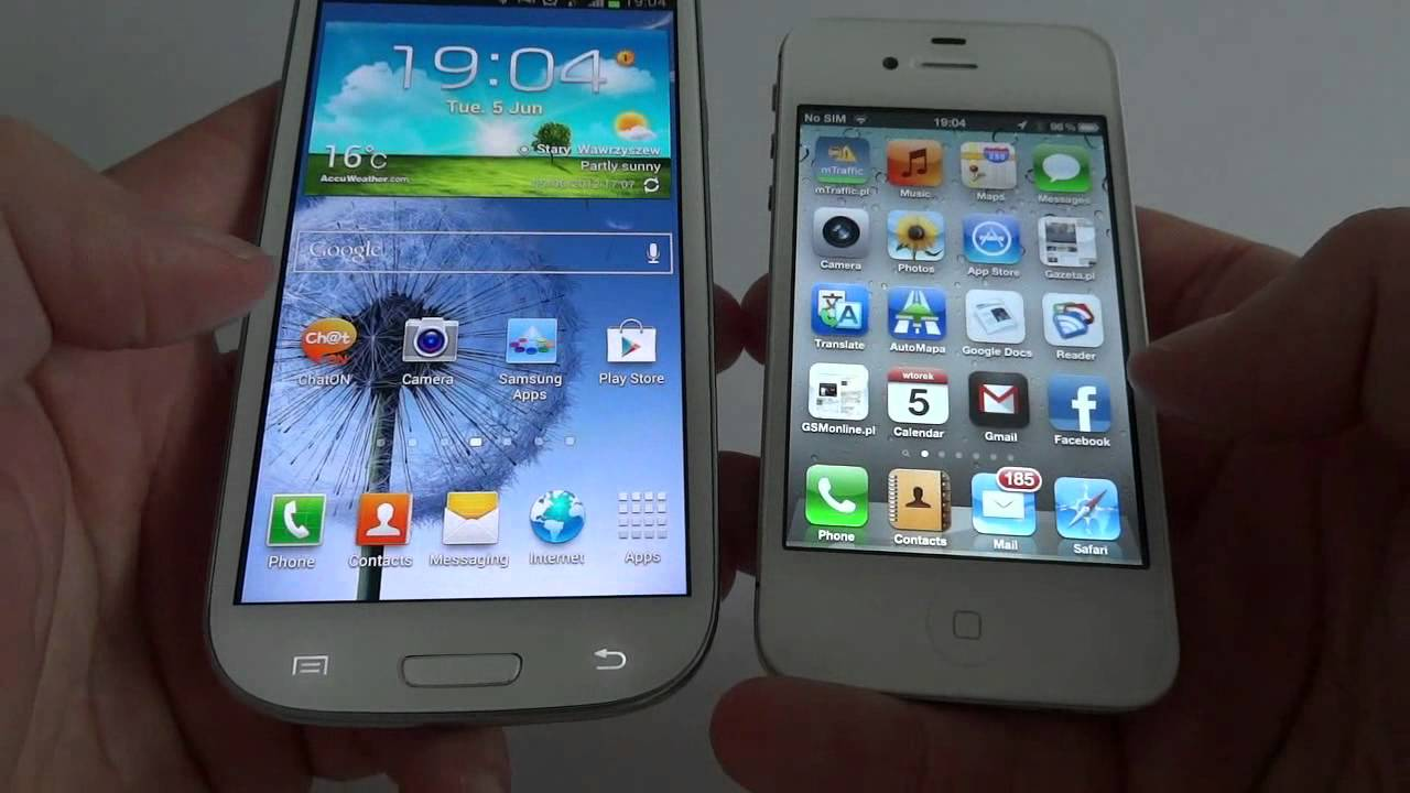 comparing galaxy s3 vs iphone 4s