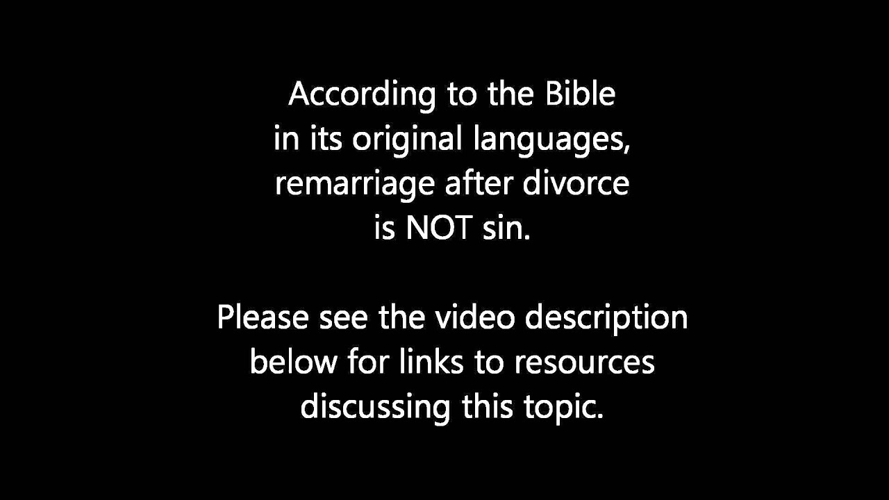 What does god say about divorce after adultery