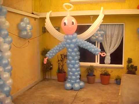 Decoracion con globos para bautizo youtube for Decoracion de bombas para bautizo