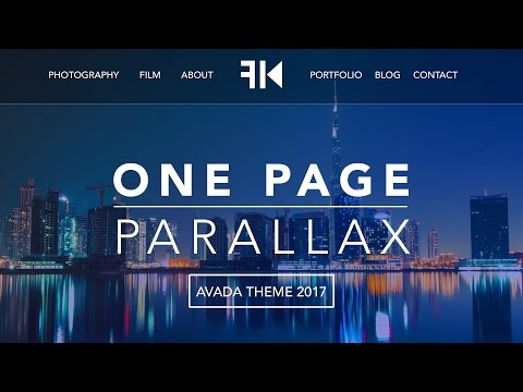 How To Make A Wordpress Website 2017 | One Page Parallax